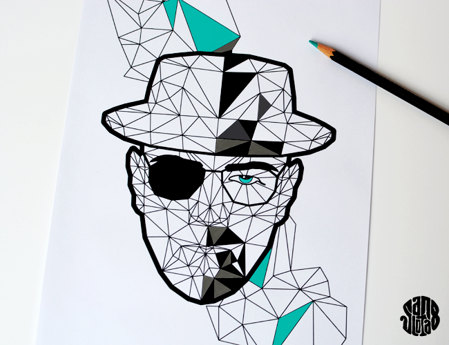 Heisenberg à Colorier (Free Printable) Fan Art