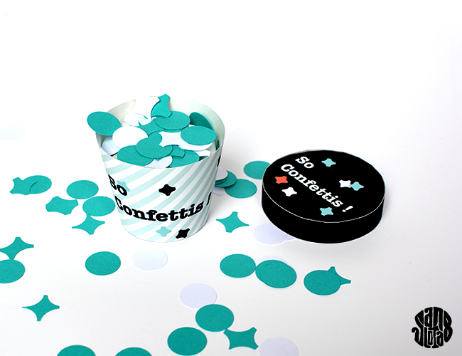 Le Petit Pot So Confettis (Free Printable) #packaging