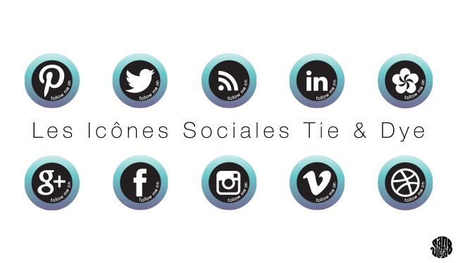 Icônes Sociales Tie And Dye #freebies