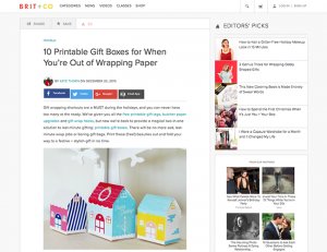 BRIT+CO / 2015-12-22 : 10 Printable Gift Boxes for When You're Out of Wrapping Paper