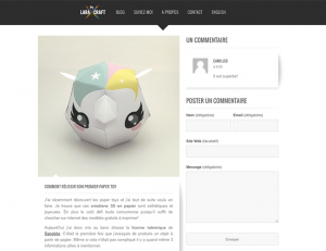 By Lara Craft / 2015-12-19 : COMMENT RÉUSSIR SON PREMIER PAPER TOY