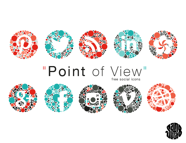 Les Icônes Point of View (free social icons)