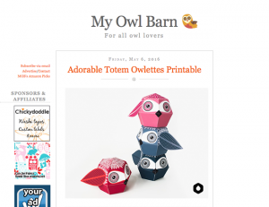 My Owl Barn / 2016-05-06 : Adorable Totem Owlettes Printable