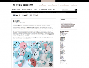 Zeina Alliances Le Blog - En Avent !!