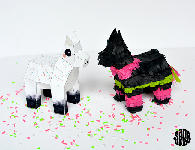 Paper Toy Crazy Piñata (DIY + free Printable)