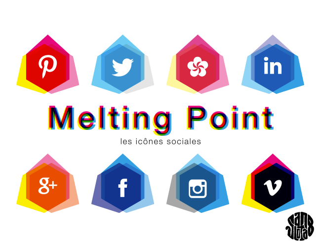 "Les Icônes Sociales ""Melting Point"" (freebies)"