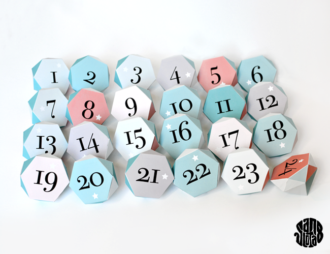 Les Diams de l'Avent - Advent calendar - DIY free printable