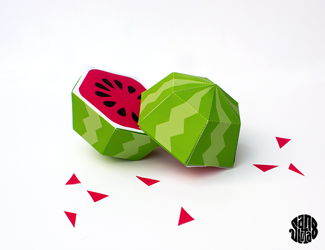 Watermelon box - #DIY + free #printable