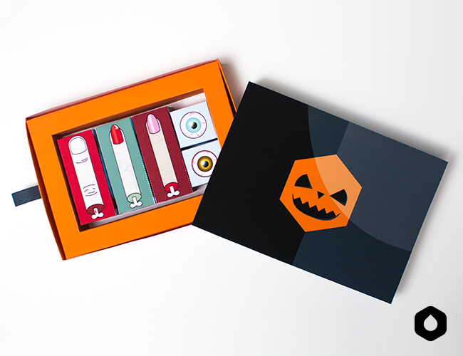 Halloween in a box (free printable)