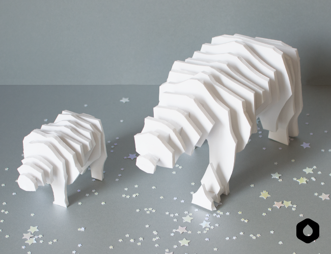 Les Ours Plumes (DIY + free printable)