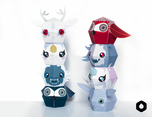 Stackable paper toys / paper crafts - #DIY + free #printable
