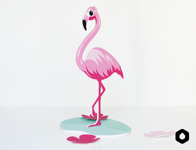 Le Pink Flamingo (DIY + free printable)