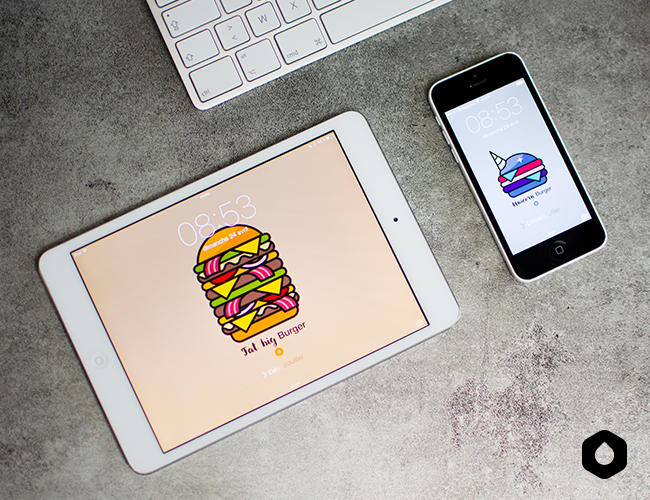"Wallpapers ""Pick Your Burger"" /// Matcha Burger - Black Burger - Fat Big Burger - Unicorn Burger"
