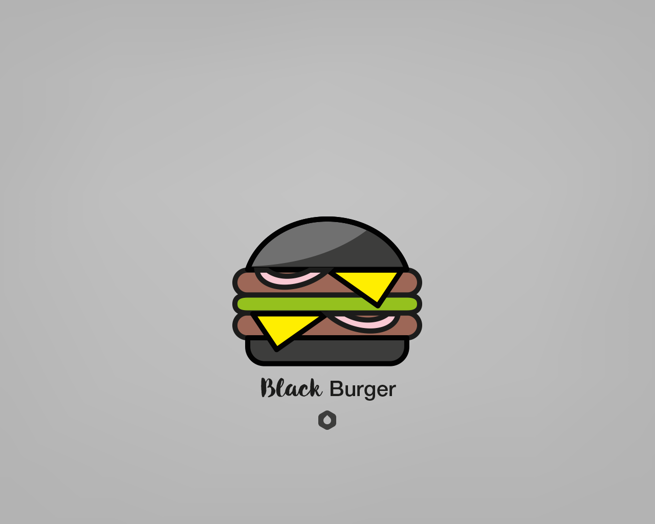 Wallpaper Pick Your Burger - Desktop - Black