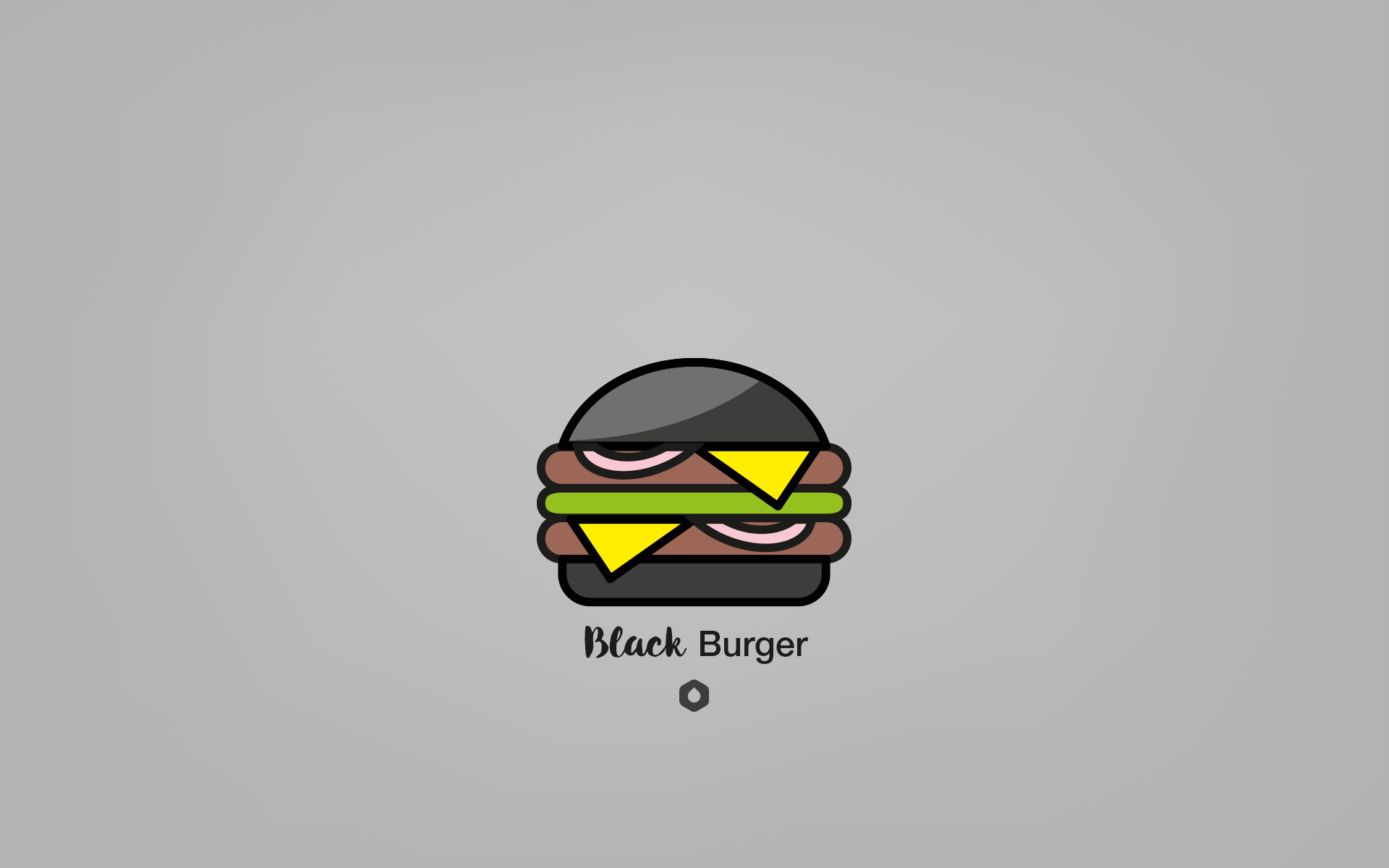 Wallpaper Pick Your Burger - DesktopHD - Black
