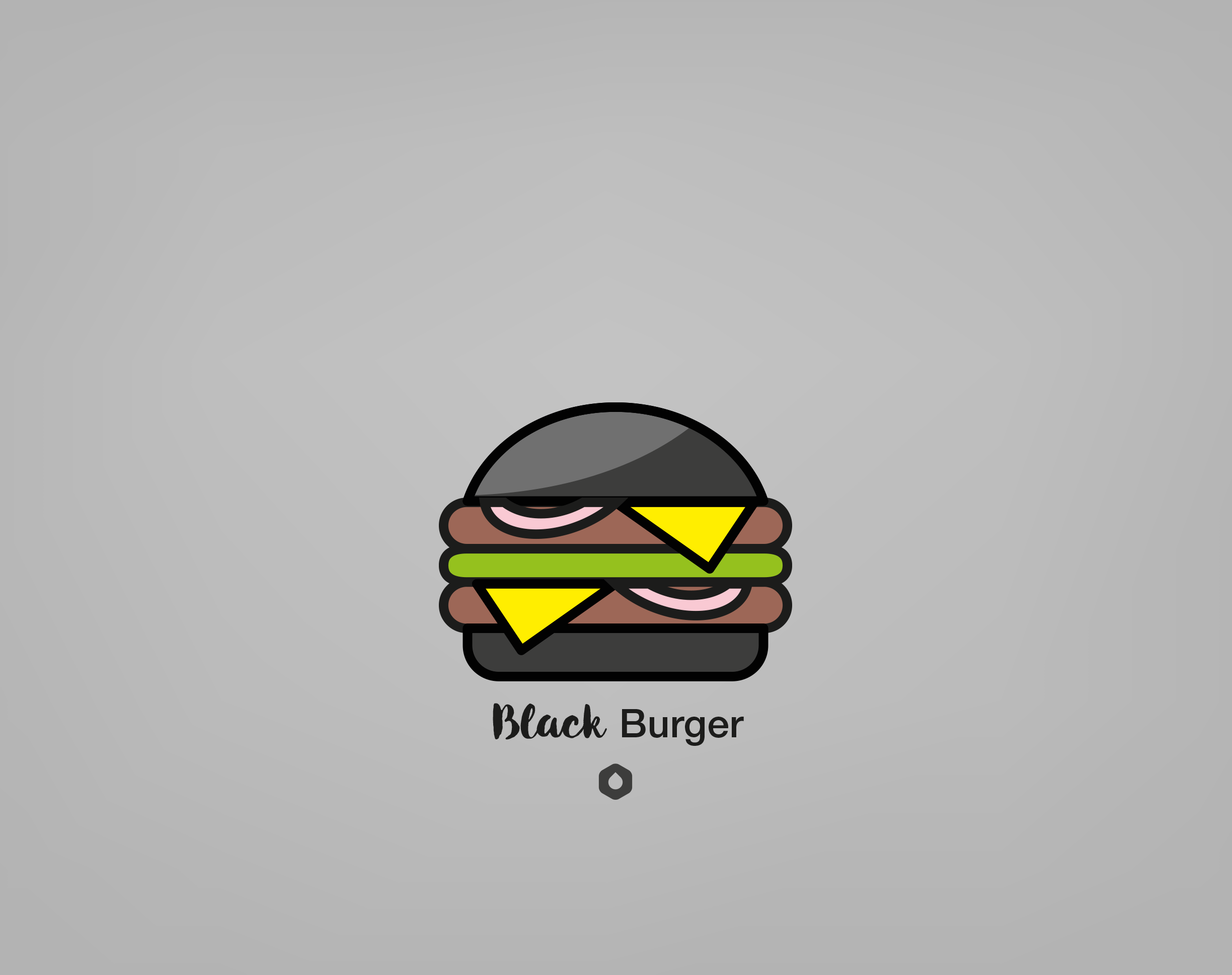 Wallpaper Pick Your Burger - Retina - Black