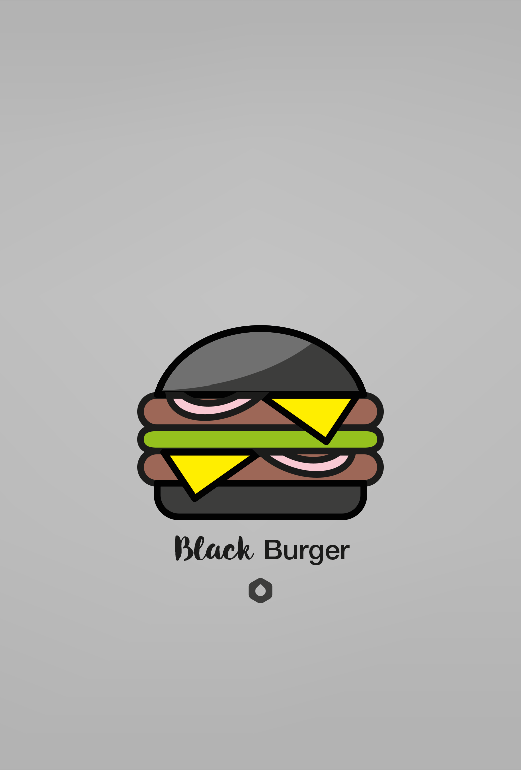 Wallpaper Pick Your Burger - iPhone5 - Black