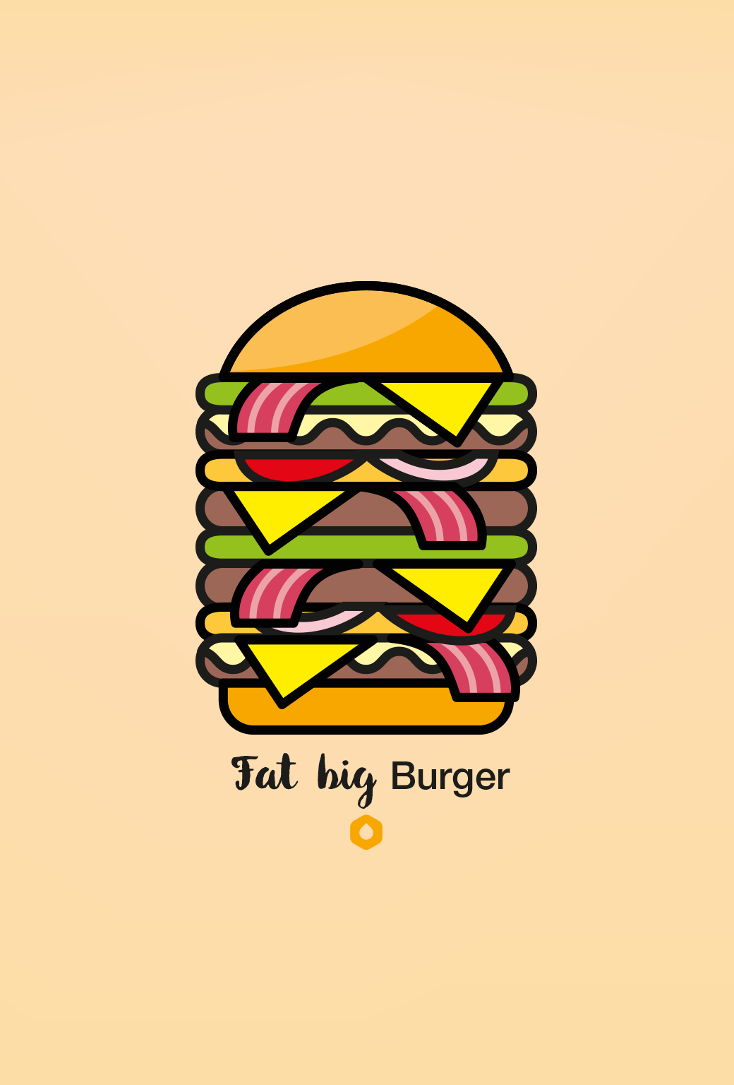 Wallpaper Pick Your Burger - iPhone5 - FatBig