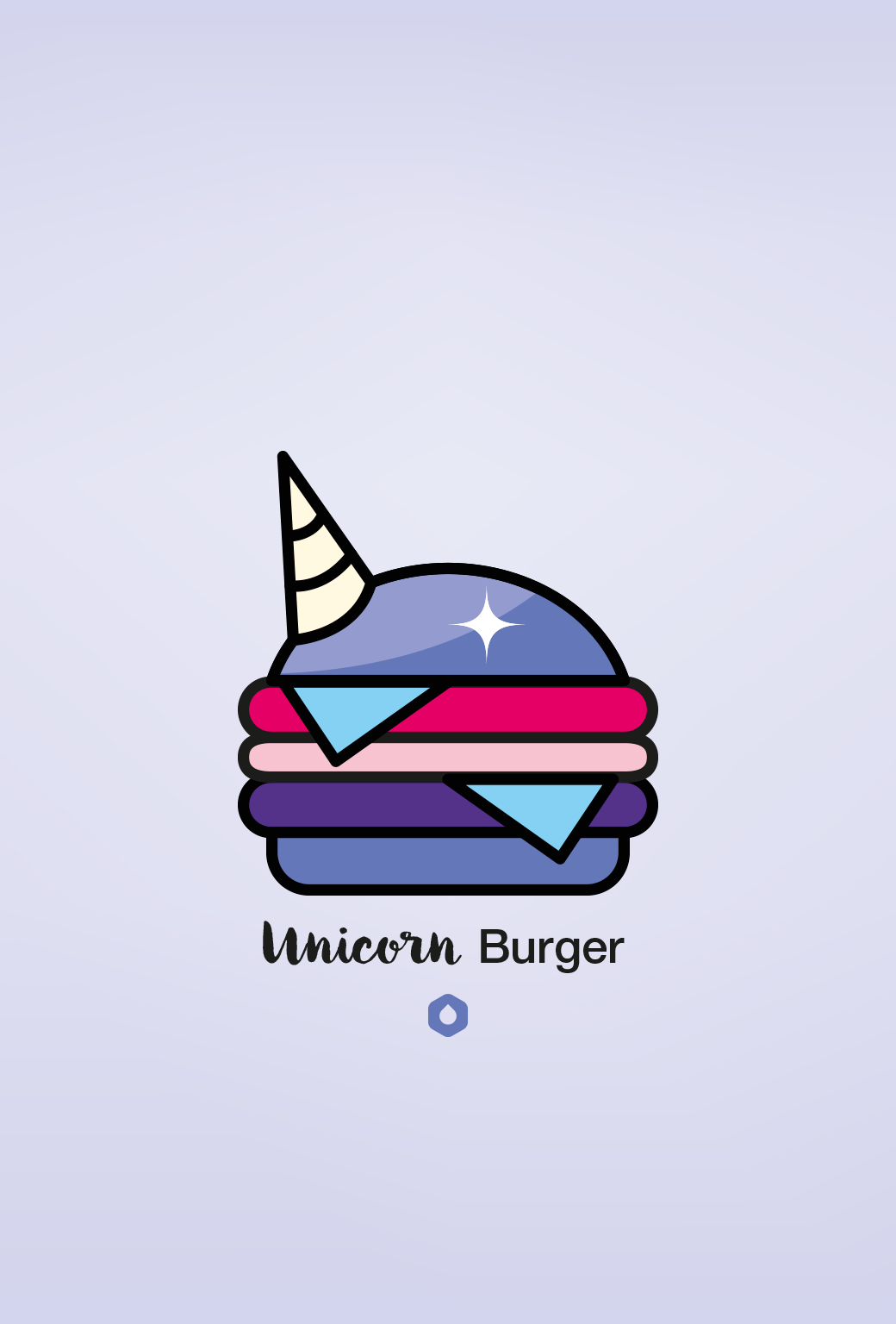 Wallpaper Pick Your Burger - iPhone5 - Unicorn