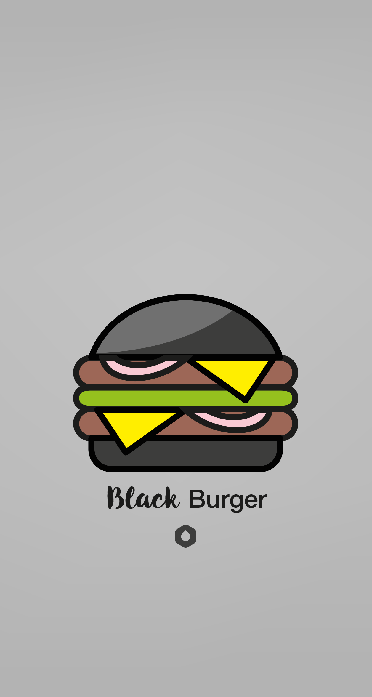 Wallpaper Pick Your Burger - iPhone6P - Black