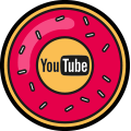 Les-Icones-Sociales-Donuts-Youtube - Sanglota.com
