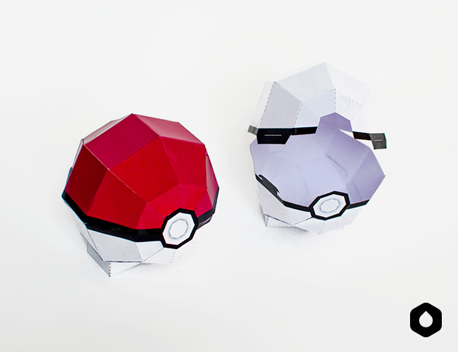 graphic about Pokeball Printable named Sanglota - Printables La Pokeball Papertoy #PokemonGo