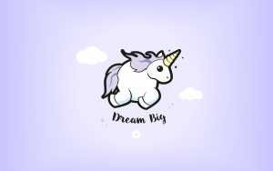 "Wallpapers ""Licorne Dodue"" Dream Big - Desktop HD"