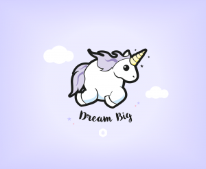 "Wallpapers ""Licorne Dodue"" Dream Big - iPad"