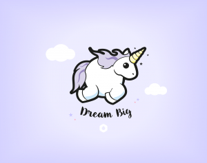 "Wallpapers ""Licorne Dodue"" Dream Big - iPad Retina"