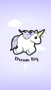"Wallpapers ""Licorne Dodue"" Dream Big - iPhone 6 / 6s"