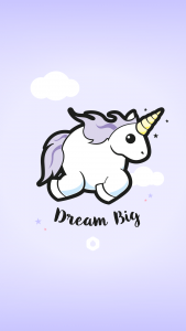 "Wallpapers ""Licorne Dodue"" Dream Big - iPhone 6 Plus"