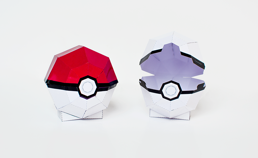 graphic relating to Pokeball Printable named Sanglota - Printables La Pokeball Papertoy #PokemonGo
