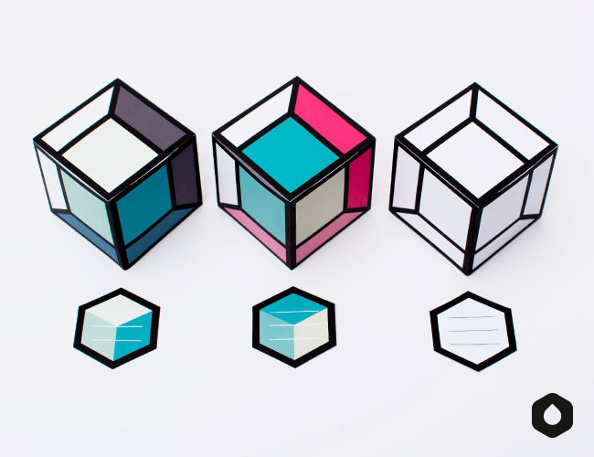 Les Cubes Perspective - free printable