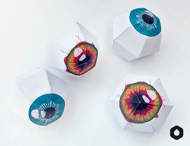 Les Globes Oculaires - DIY & free printable - Halloween